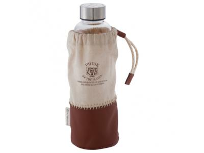 Promotional Giveaway Drinkware | Alternative Glass Bottle with Pouch 18oz