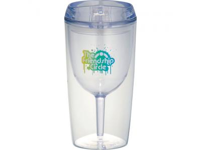 Promotional Giveaway Drinkware | Game Day Wine Glass Cup 10oz