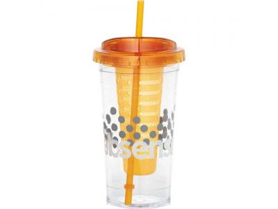 Promotional Giveaway Drinkware | Cool Gear Sedici Fruit Infuser Tumbler 24oz