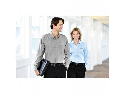 Apparel Wovens   M-Tulare Oxford Long Sleeve Shirt (Poly Cotton)