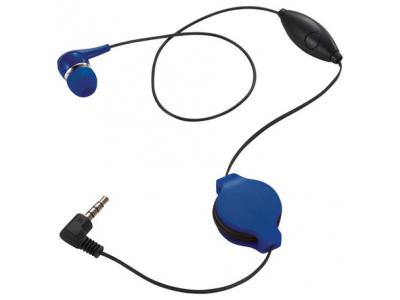 Promotional Giveaway Technology   Retractable Ear bud with Mic