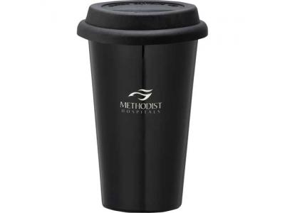 Promotional Giveaway Drinkware | Double-Wall Ceramic Tumbler 11oz
