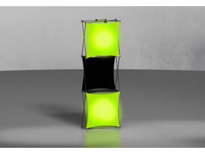 Pop Up Displays   Xpressions 1x3 with LED Lightboxes