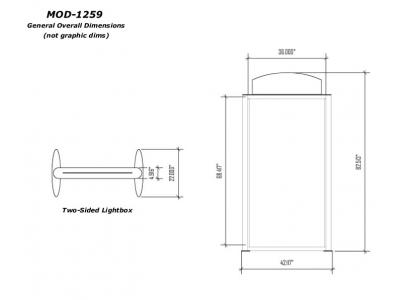 Banner Stands | Mod-1259 Lightbox dims