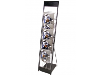 10 UP Literature Stand - Silver