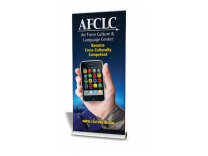 Quickscreen 3 - 33.5 in Retractable Banner Stands | Banner Stands
