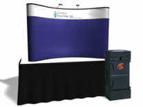8 Ft Fabric Table Top w/Header | Trade Show Displays by ShopForExhibits