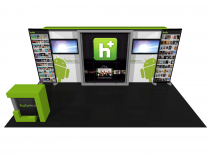 Eco-2008 | Eco Smart Hybrid Custom Modular Trade Show Display - bird's eye view