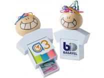 Promotional Giveaway Notes & Office Accessories   Goofy Clip 'n' Flag Set