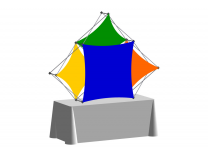 Pop Up Table Top Display   XSNAP 3QB