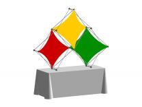 Pop Up Table Top Display   XSNAP 3QD