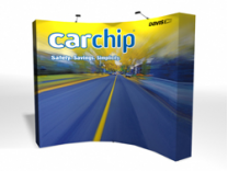 VBurst Curved Frame Pop Up Displays | Trade Show Displays