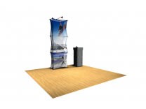 Xpressions Sheer 1x3 Pop Up Displays | Trade Show Displays