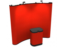 Trade Show Booths | 8 Ft Curved Frame Economy Pop Up Displays