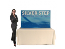 SilverStep Banner Stand Table Top | Trade Show Displays by ShopForExhibits
