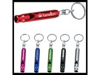 Promotional Giveaway Gifts & Kits | Metal Whistle / Key Ring