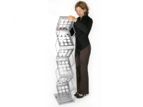 Trade Show Accessories   Zed Up Silver Literature Stand