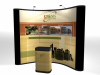 Pop Up Display | 10' Economy Pop Up Display with 4 Photo Murals