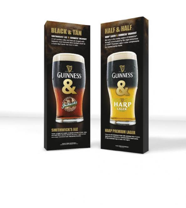 Guiness Beer Pop Up Trade Show Displays