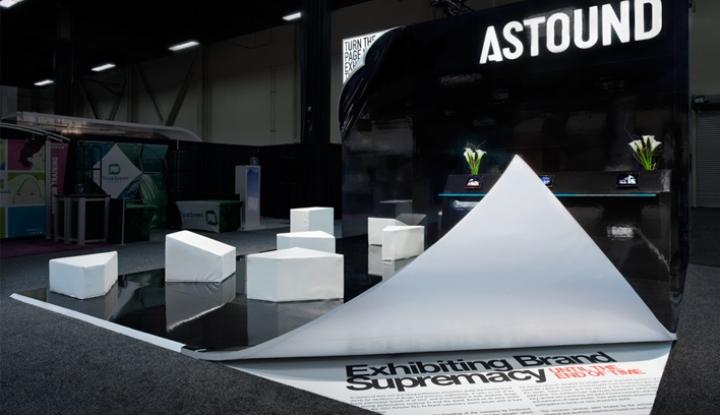 Astound trade show display booth